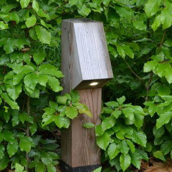 Natural garden lighting that goes into the environment