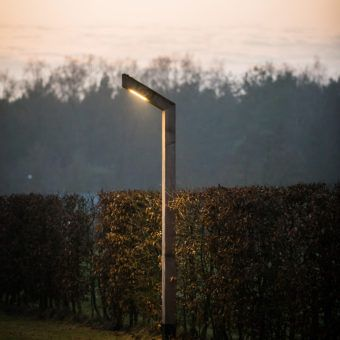 Street light STRATO-sustainable-wooden light pole